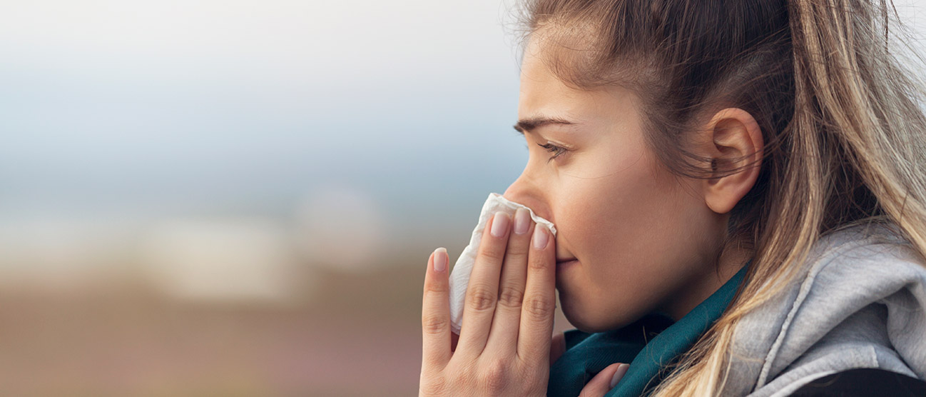 Indoor allergies can cause an itchy runny nose
