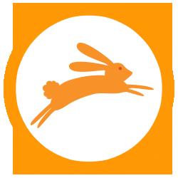 Ícono de conejo saltarín