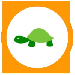 Ícono de tortuga lenta