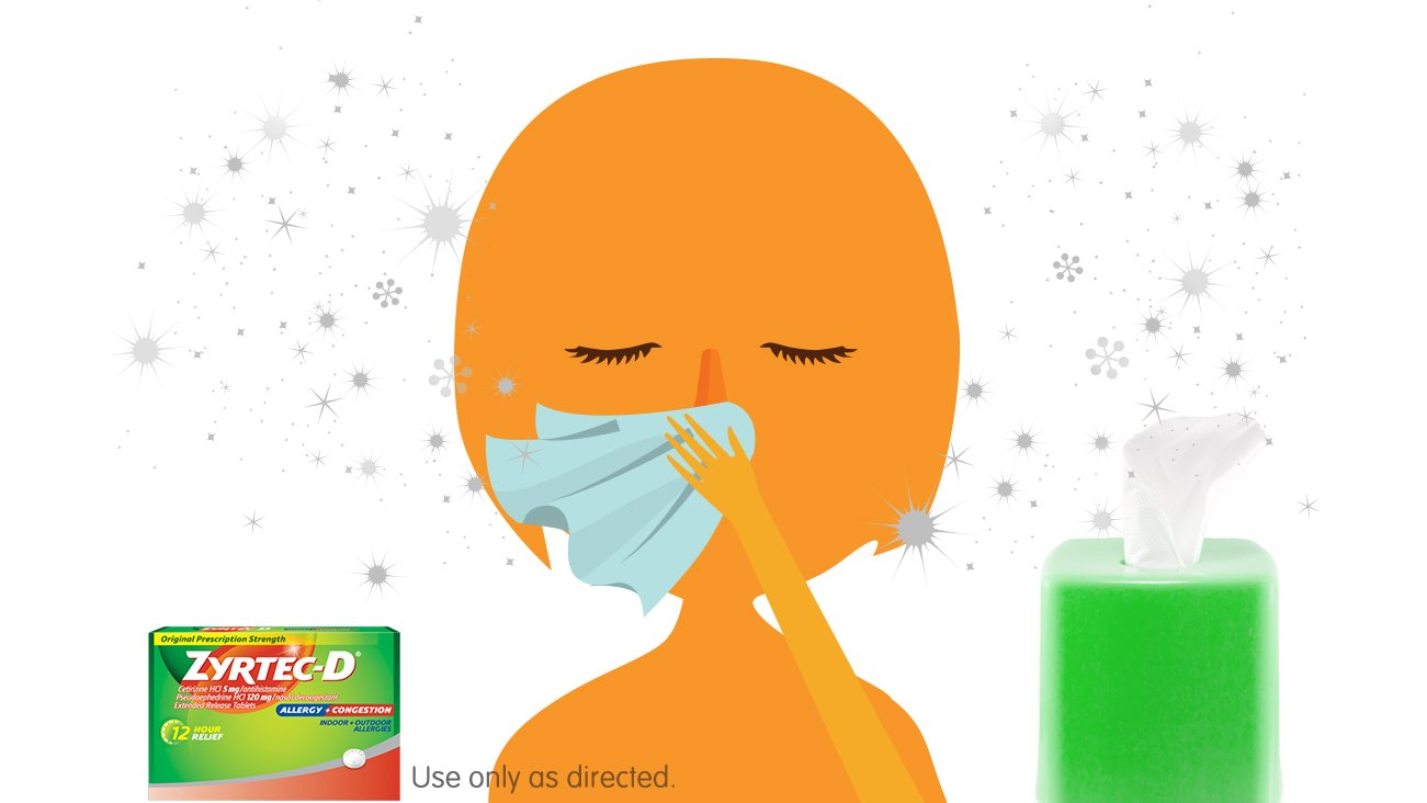 Avoid Blowing Your Nose & Find Congestion Relief With ZYRTEC-D