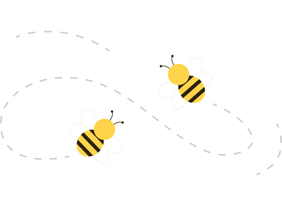 Flying bees graphic