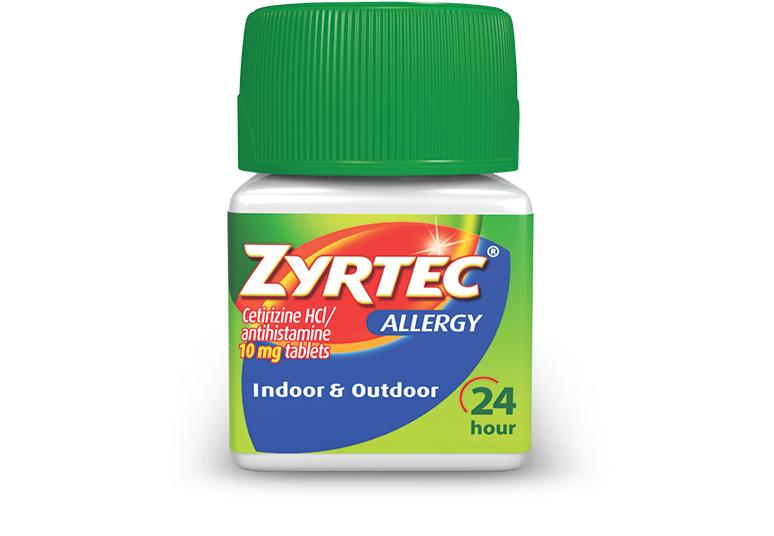 ZYRTEC® Tablets para aliviar síntomas de alergia | ZYRTEC®