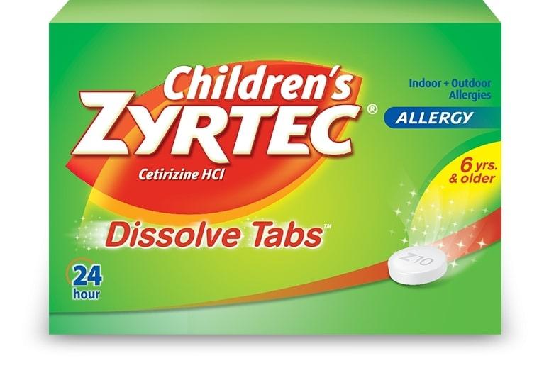 Children's ZYRTEC® Dissolve Tabs