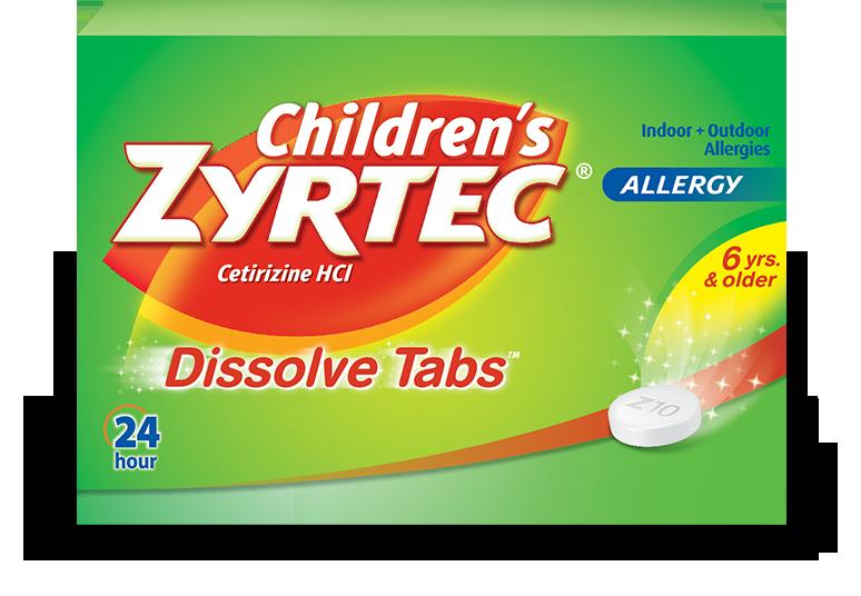 Children's Zyrtec Dissolve Tabs