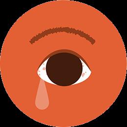 Picazón, enrojecimiento o lagrimeo de ojos.