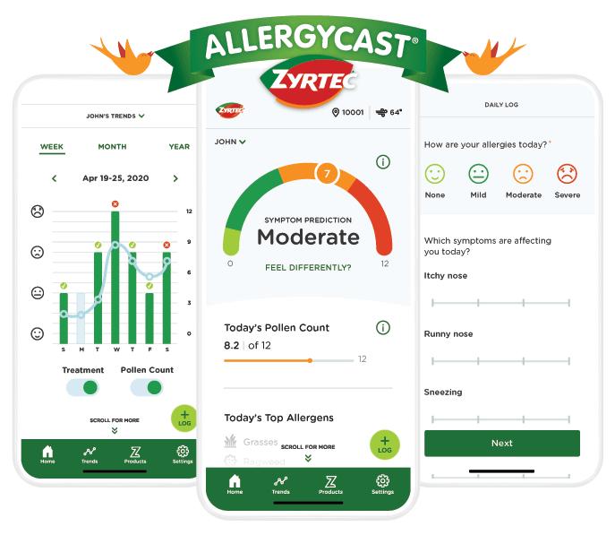Obtén la aplicación AllergyCast® de ZYRTEC®