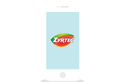 Zyrtec app on mobile phone